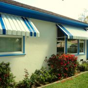 Solid Aluminum Window Awnings (Open Sides)