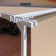 Alumawood Patio Cover with Added Shade Panels