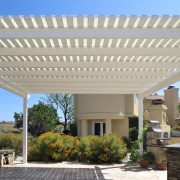 Laguna Lattice Cover with Fabric Panel Overlay