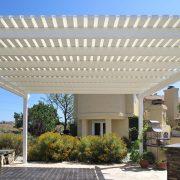 Laguna Lattice Cover with Fabric Panel Overlay