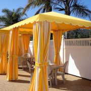 Commercial Poolside Dining Cabanas