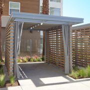 Slide Wire Roof and Curtains on Existing Cabana