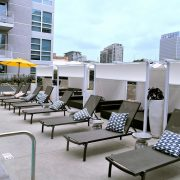 Slide Wire Pool Cabanas