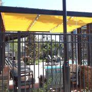 Slide Wire Pool Cabana