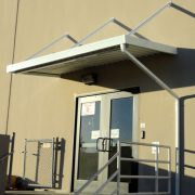 Cantilevered Aluminum Door Awning