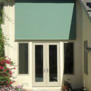 Door Shade - Retracted