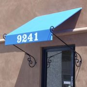 Scroll Style Door Awning