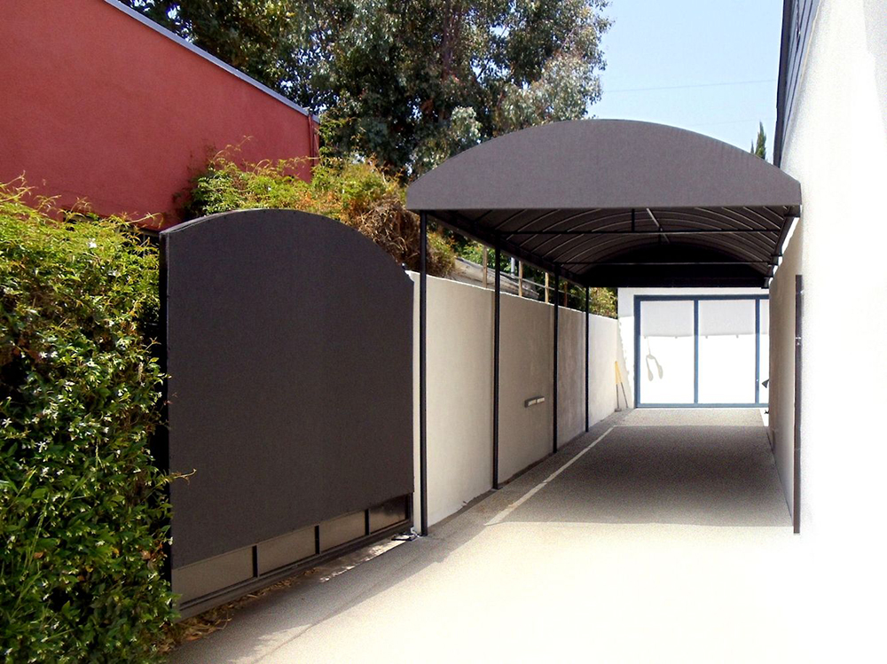 Portable Awning On Fence : Gate and fence covers superior awning