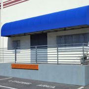 Convex Canvas Industrial Door Awning
