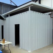 Enclosed/Vented Industrial Aluminum Shed
