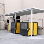 Freestanding Industrial Equipment Canopy