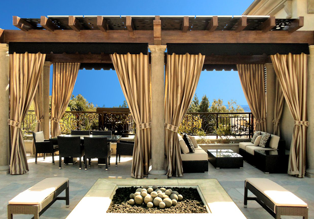 Awesome Outdoor Curtains Drapes And Roller Shades Superior Awning Home Interior And Landscaping Oversignezvosmurscom