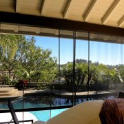 Mesh Rope and Pulley Patio Shades