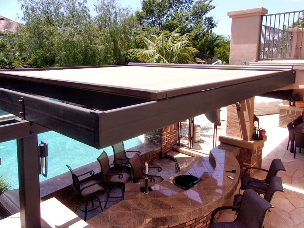 ... Retractable Skylight Patio Shade ... & Patio Roofs and Roof Tarps | Superior Awning
