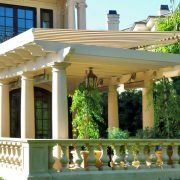 Pergola-Mounted Retractable Awning