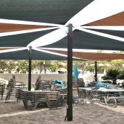 Shade Sails Dining Patio Cover