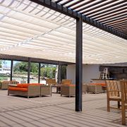 Slide Wire Restaurant Patio Canopy