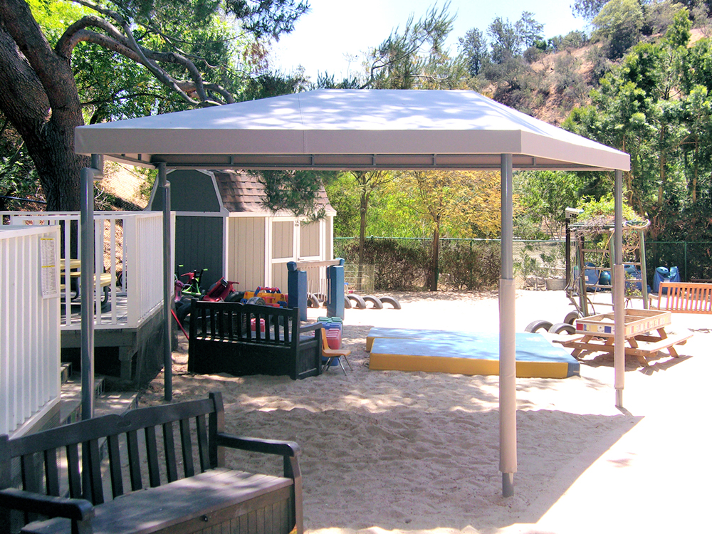 Sandbox Canopy Retractable Awning Park Area Shelters ...