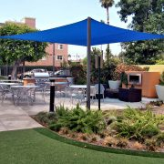 Shade Sail Dining Patio Cover