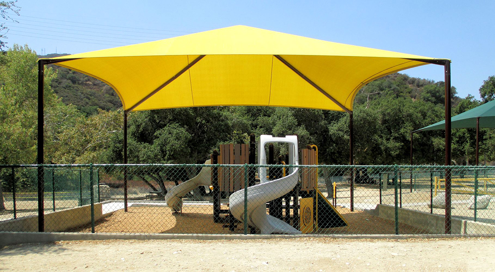 Shade Sails Playground Tension Structure