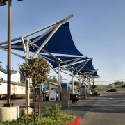 Car Wash Shade Sail Structures