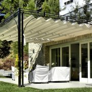 Slide Wire Canopy on Existing Decorative Metal Structure