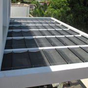 Mesh Slide Wire Canopy on Existing Structure