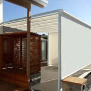 Slide Wire Canopy with Drop Shades