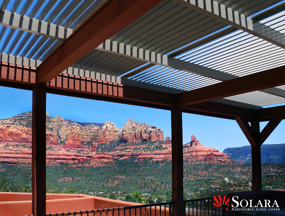 Adjustable Louver Patio Covers | Superior Awning on Patio Cover Ideas For Rain id=41028