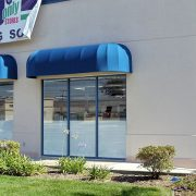 Long Dome Style Storefront Window Awnings