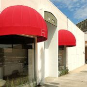 Oversized Dome Style Storefront Awnings